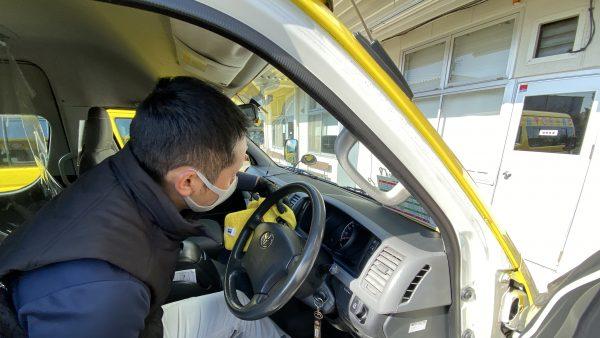 藤沢自動車学校にて予防消毒作業